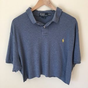 Vintage RALPH LAUREN Polo Crop Top